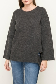 Mystree Distressed Charcoal Sweater - Product Mini Image