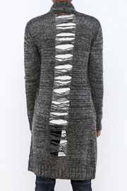 Mystree Deconstructed Knit Cardigan - Back cropped