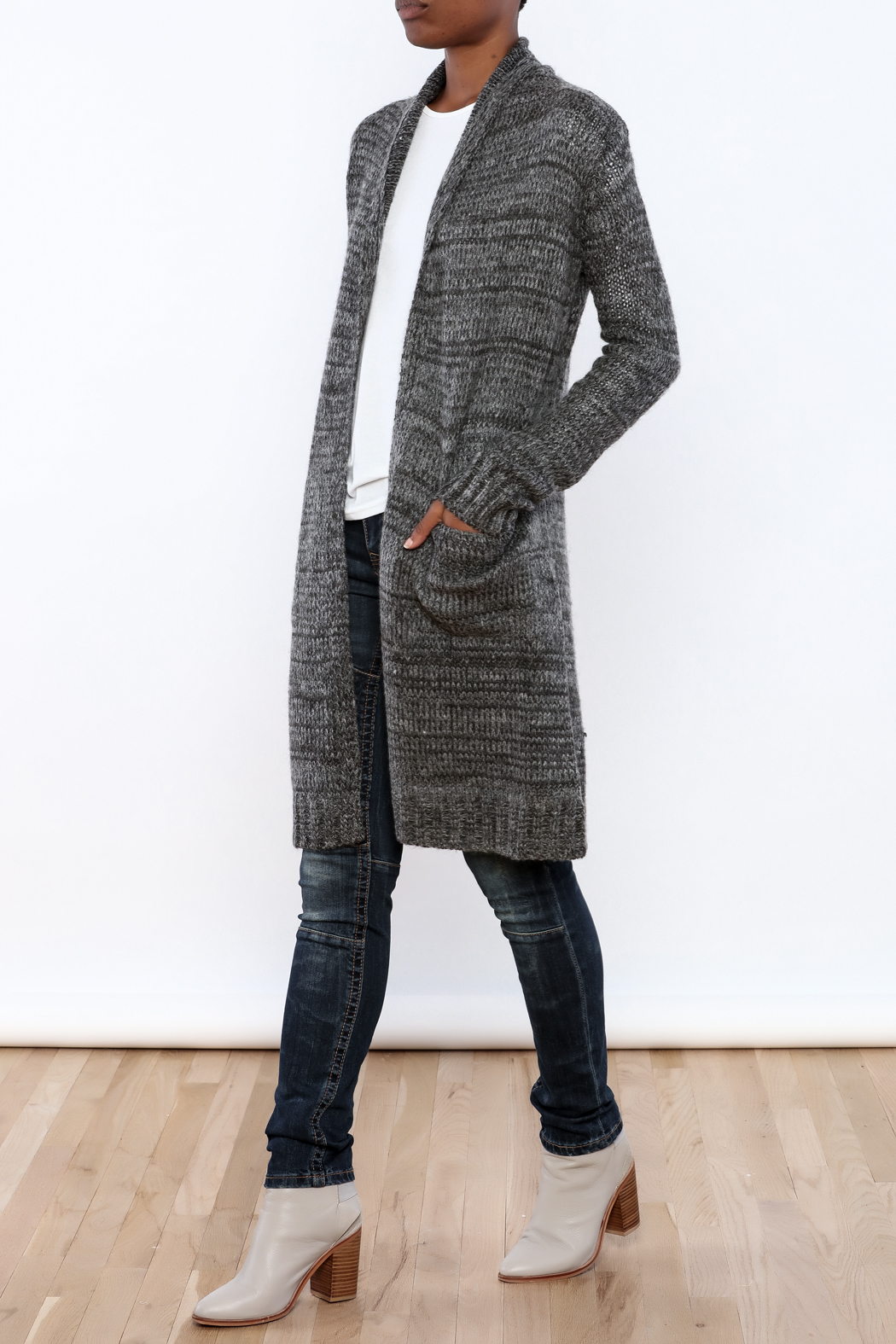 Mystree Deconstructed Knit Cardigan - Front Full Image