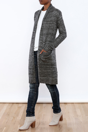 Mystree Deconstructed Knit Cardigan - Front full body