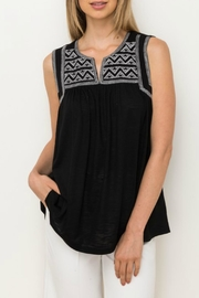 Mystree Embroidered Black Sleeveless - Product Mini Image