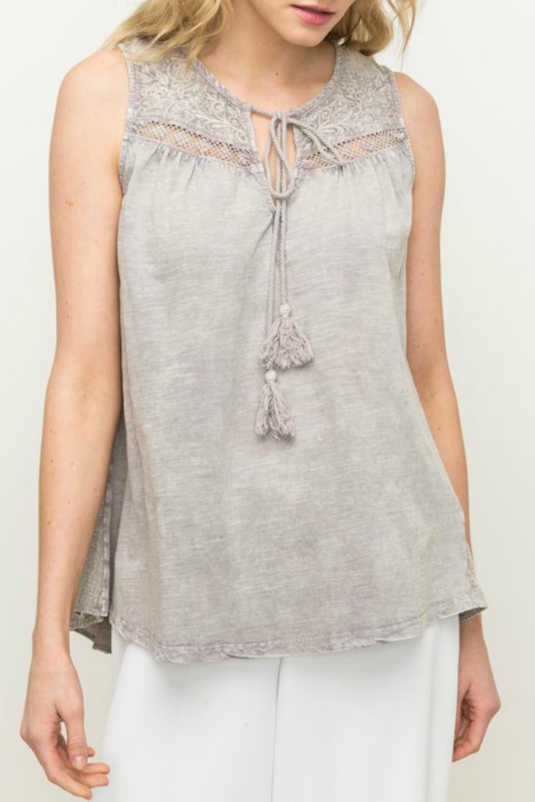 Mystree Embroidered Lace Top - Main Image
