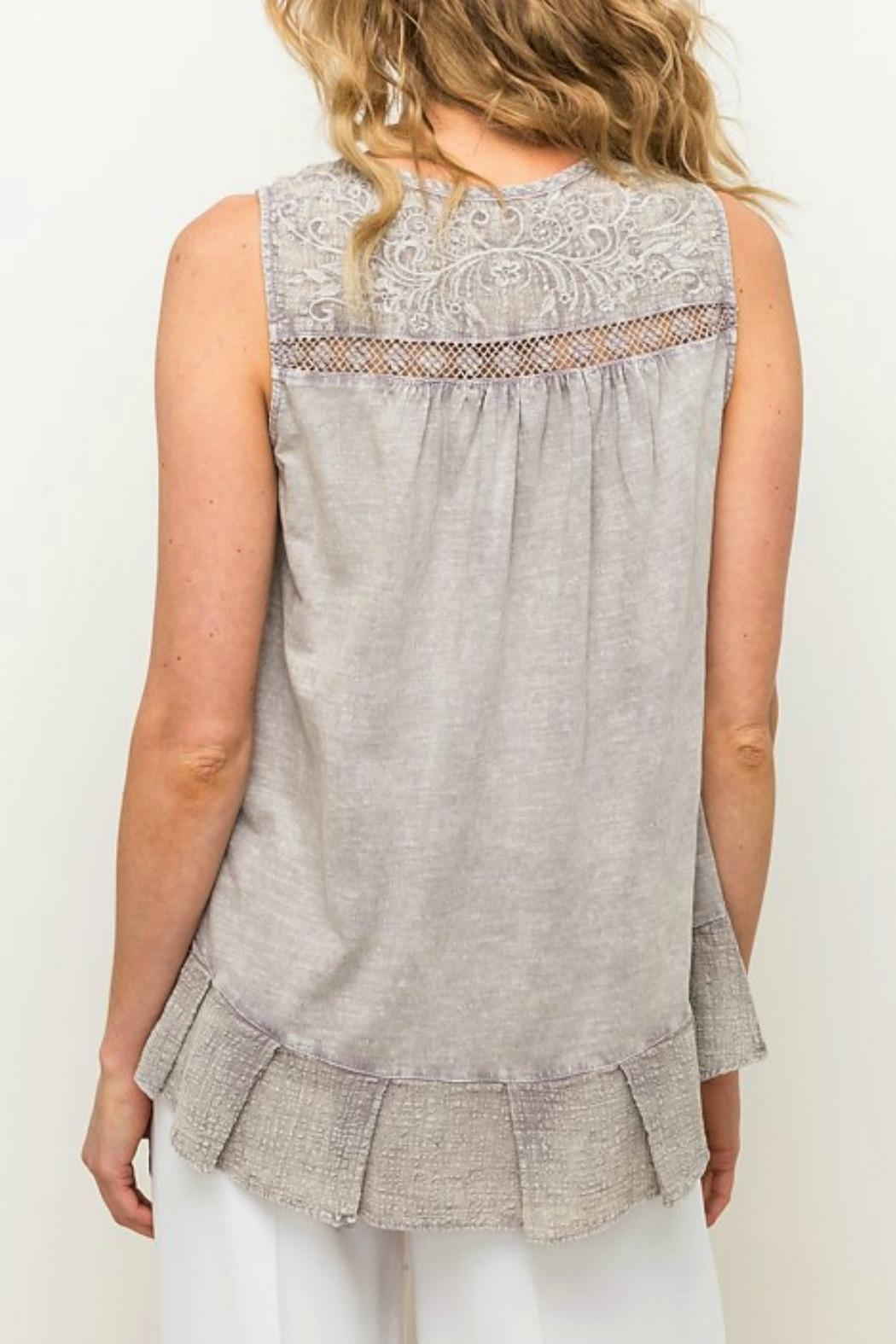 Mystree Embroidered Lace Top - Front Full Image
