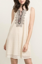 Mystree Embroidered Shift Dress - Front full body