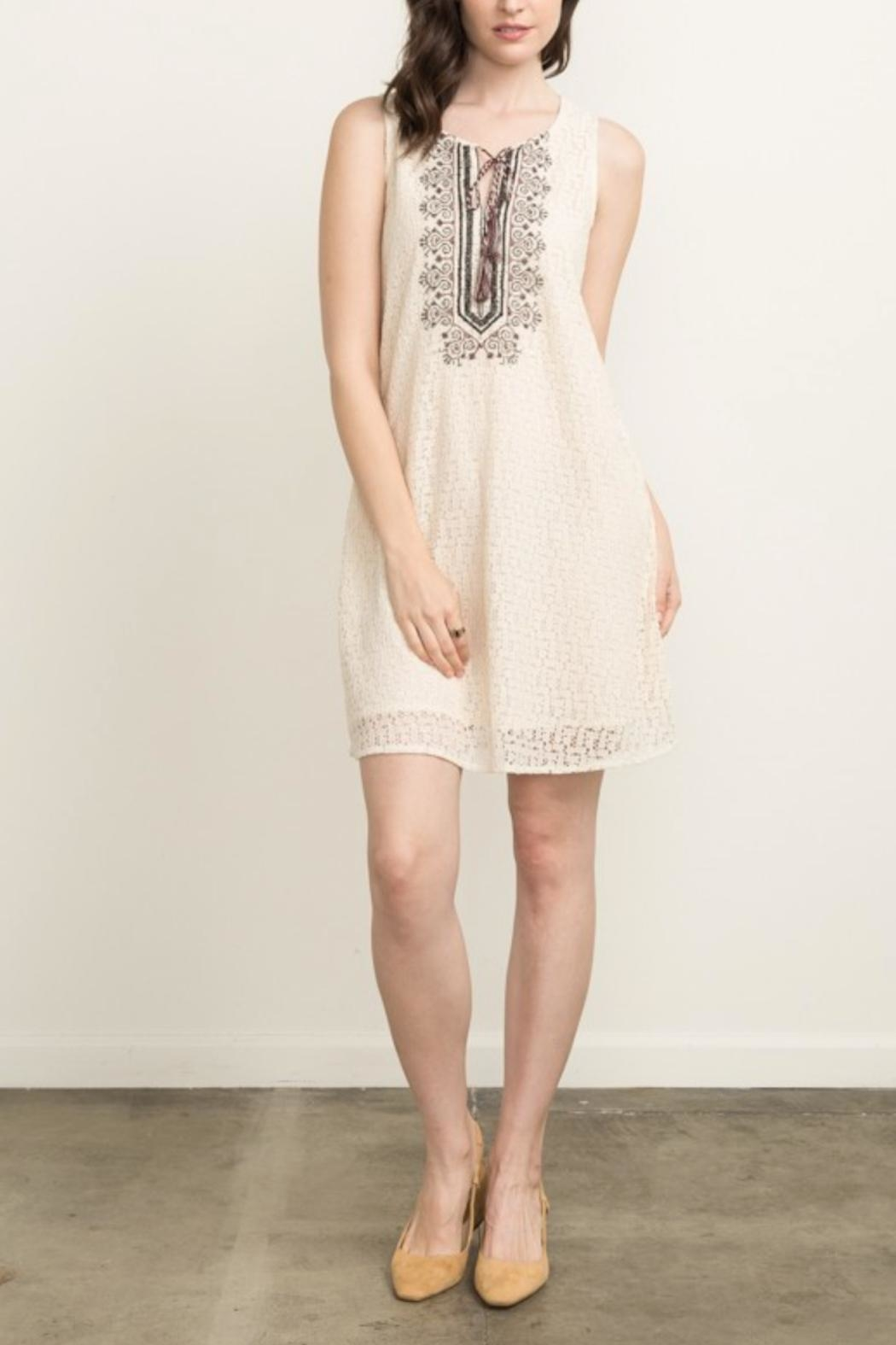 Mystree Embroidered Shift Dress - Main Image