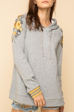 Mystree Embroidered Shoulders Hoodie - Product List Image