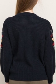 Mystree Embroidered Sleeve Sweater - Other
