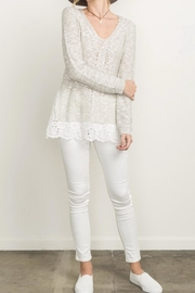 Mystree Eyelet Frill Sweater - Front cropped