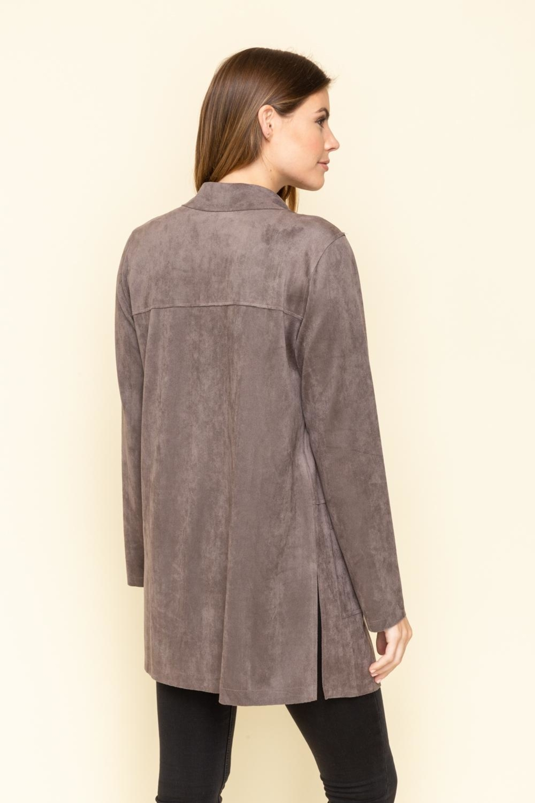 Mystree Faux Suede Jacket - Front Full Image