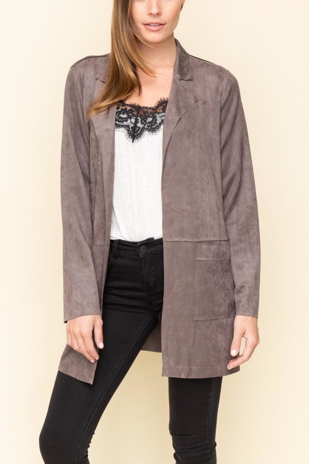 Mystree Faux Suede Jacket - Main Image