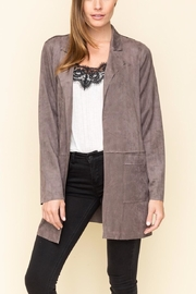 Mystree Faux Suede Jacket - Front cropped