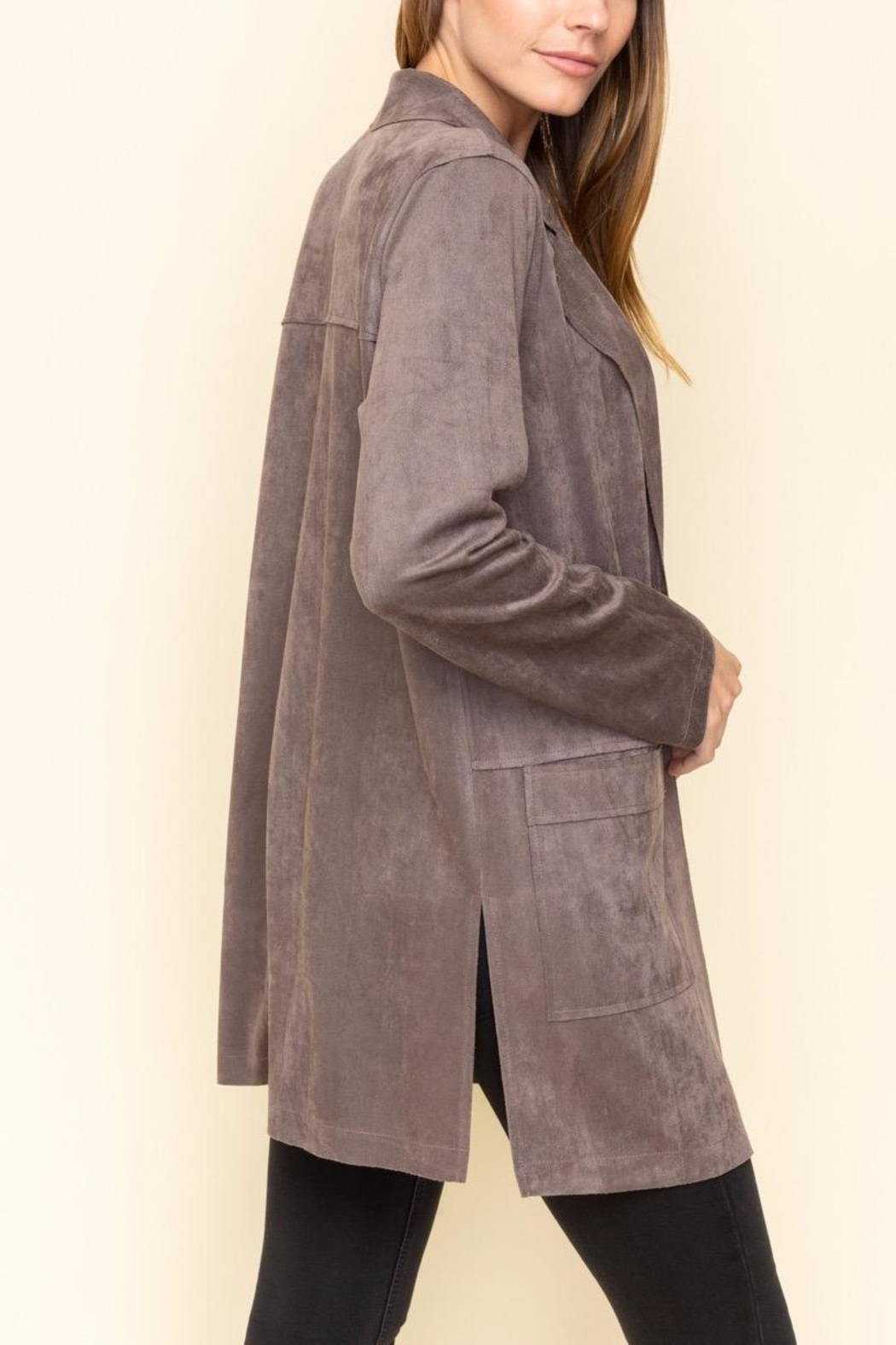 Mystree Faux Suede Jacket - Side Cropped Image