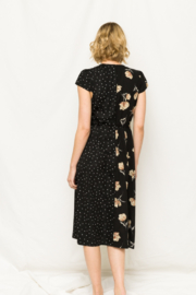 Mystree Floral and Polka Dot Wrap Dress - Front full body