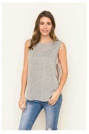 Mystree Floral Back Top - Front full body