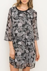 Mystree Floral Chiffon Dress - Front cropped