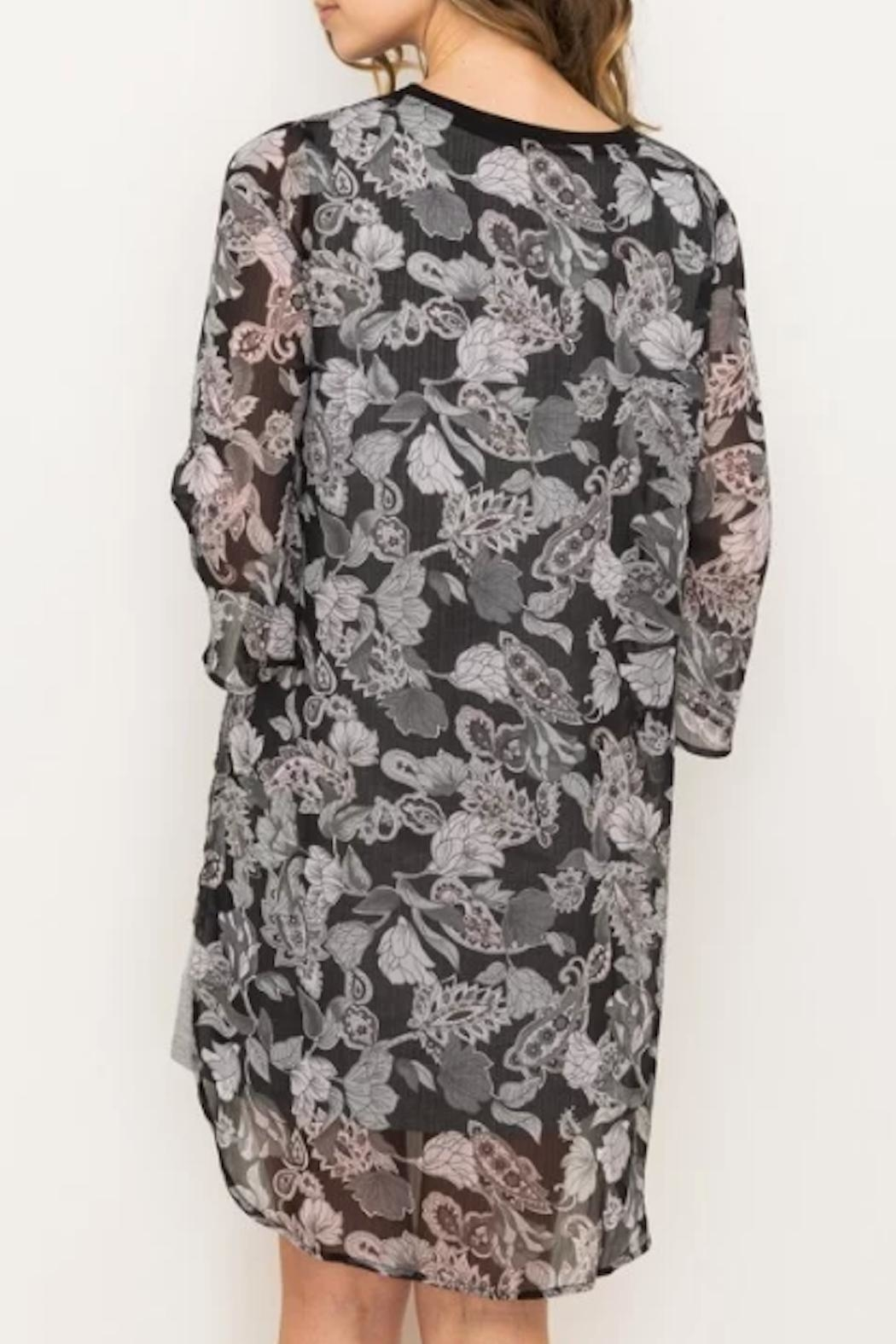 Mystree Floral Chiffon Dress - Side Cropped Image