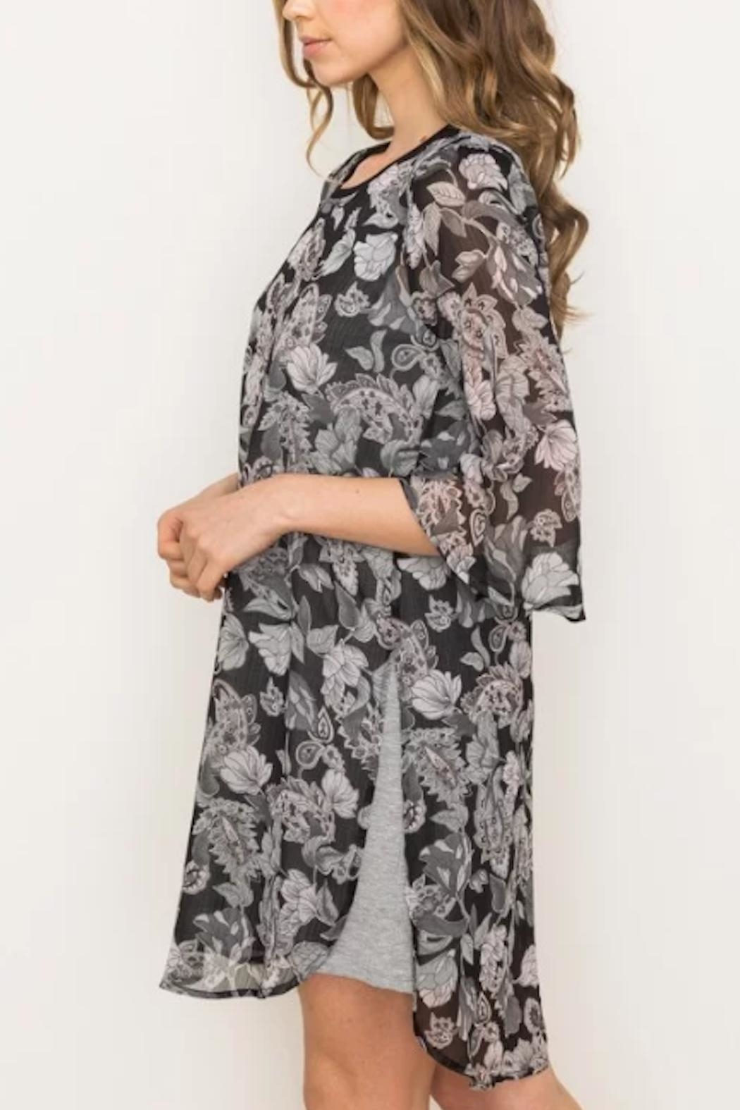 Mystree Floral Chiffon Dress - Front Full Image
