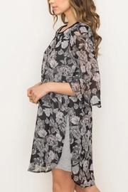 Mystree Floral Chiffon Dress - Front full body