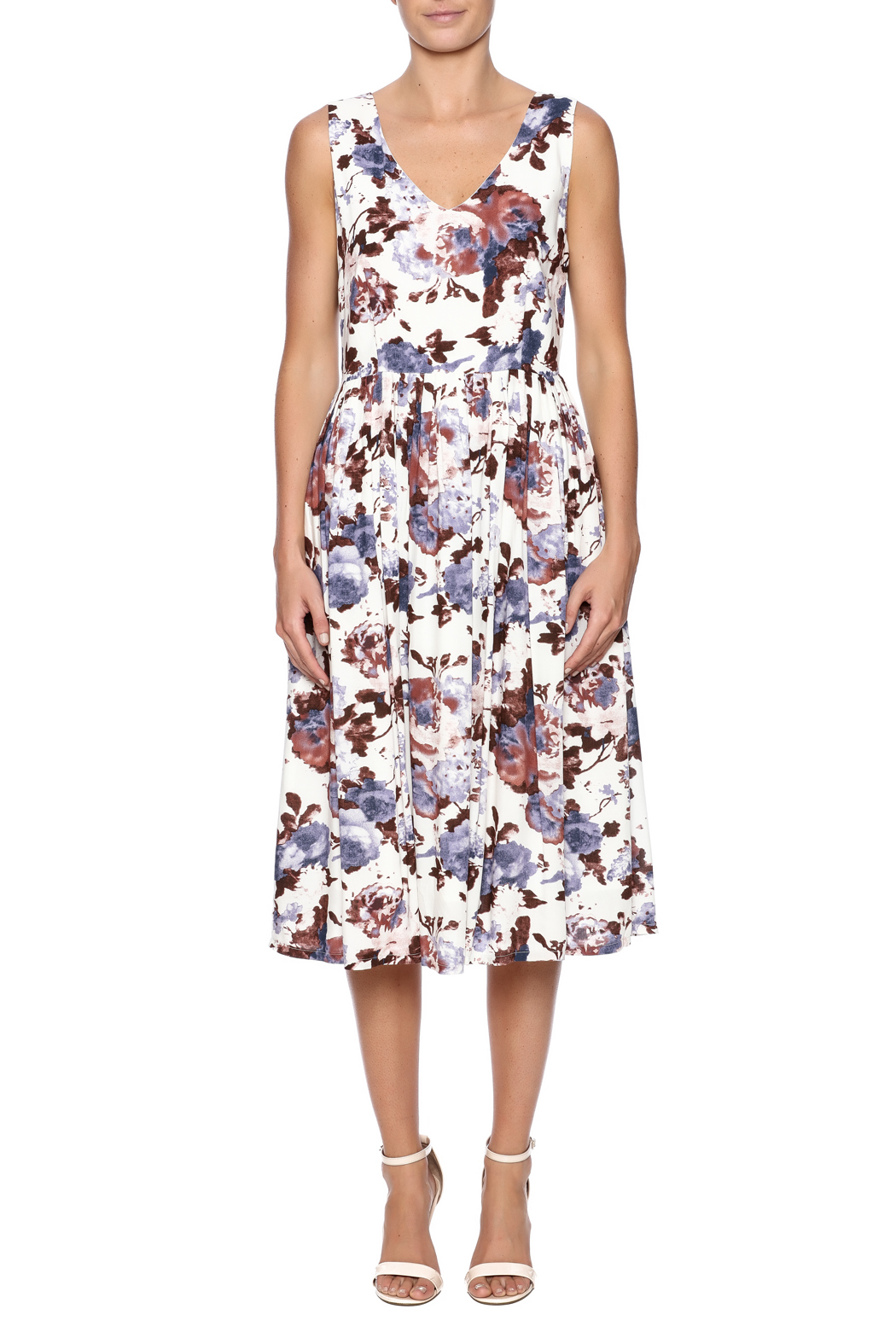 Mystree Floral Dress - Front Cropped Image