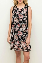 Mystree Floral Pleated Dress - Front cropped