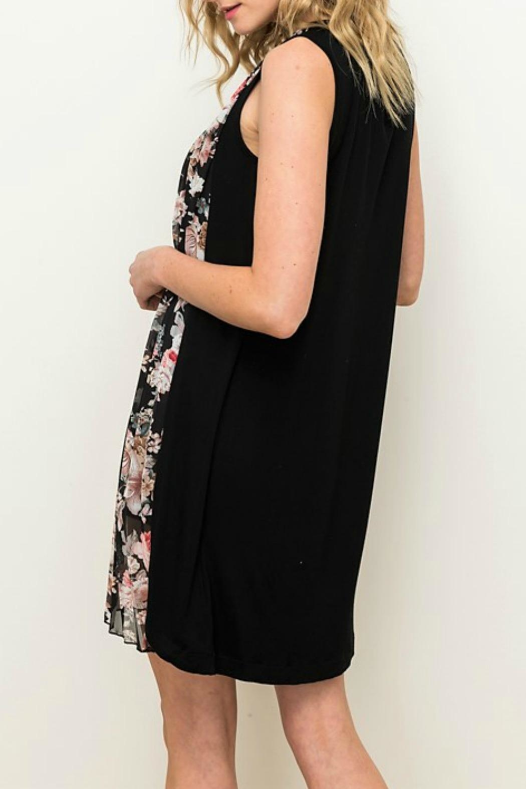 Mystree Floral Pleated Dress - Front Full Image