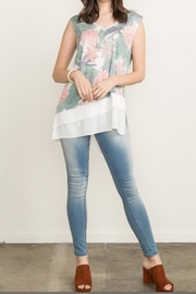 Mystree Floral Print Tank - Front cropped