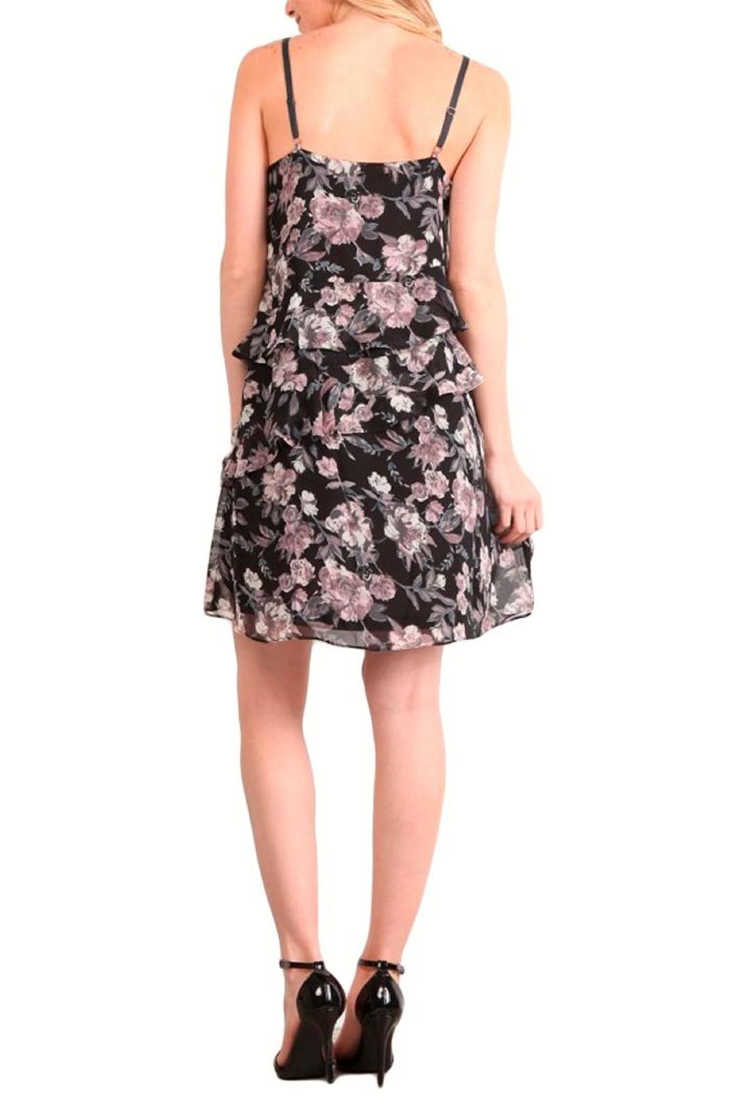 Mystree Floral Ruffle Dress - Front Full Image