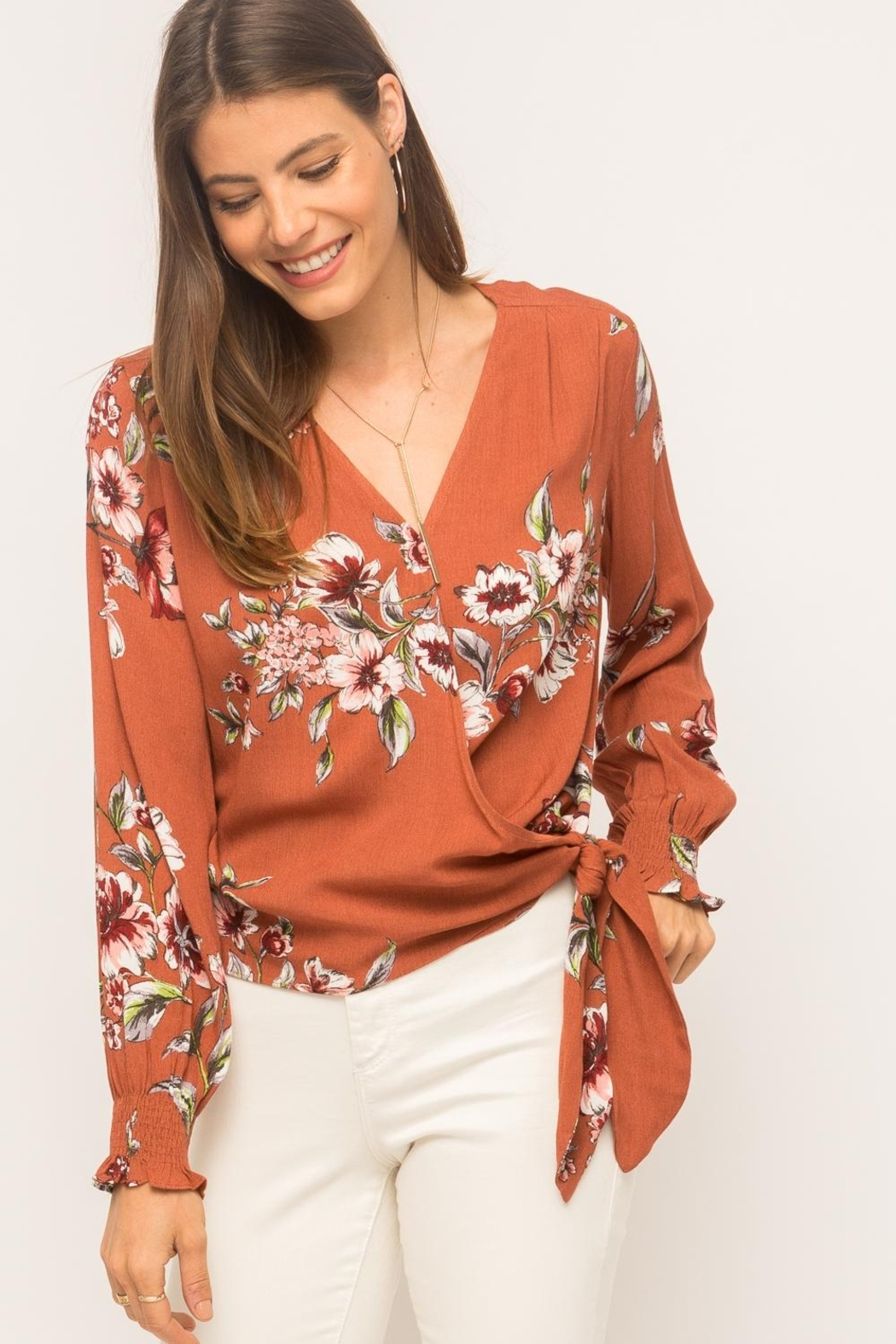 Mystree Floral Wrap Top - Main Image