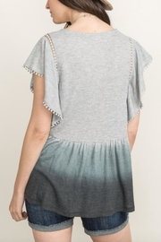 Mystree Flutter Dipdye Top - Side cropped