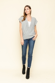Mystree Front Wrap Style Sleeveless Sweater - Side cropped