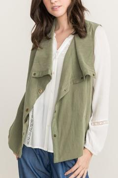 Mystree Green Lace Vest - Product List Image