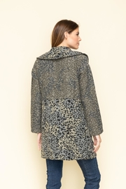 Mystree Jacqrd Half Coat - Front full body