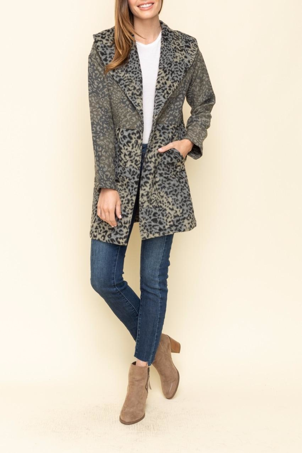 Mystree Jacqrd Half Coat - Side Cropped Image