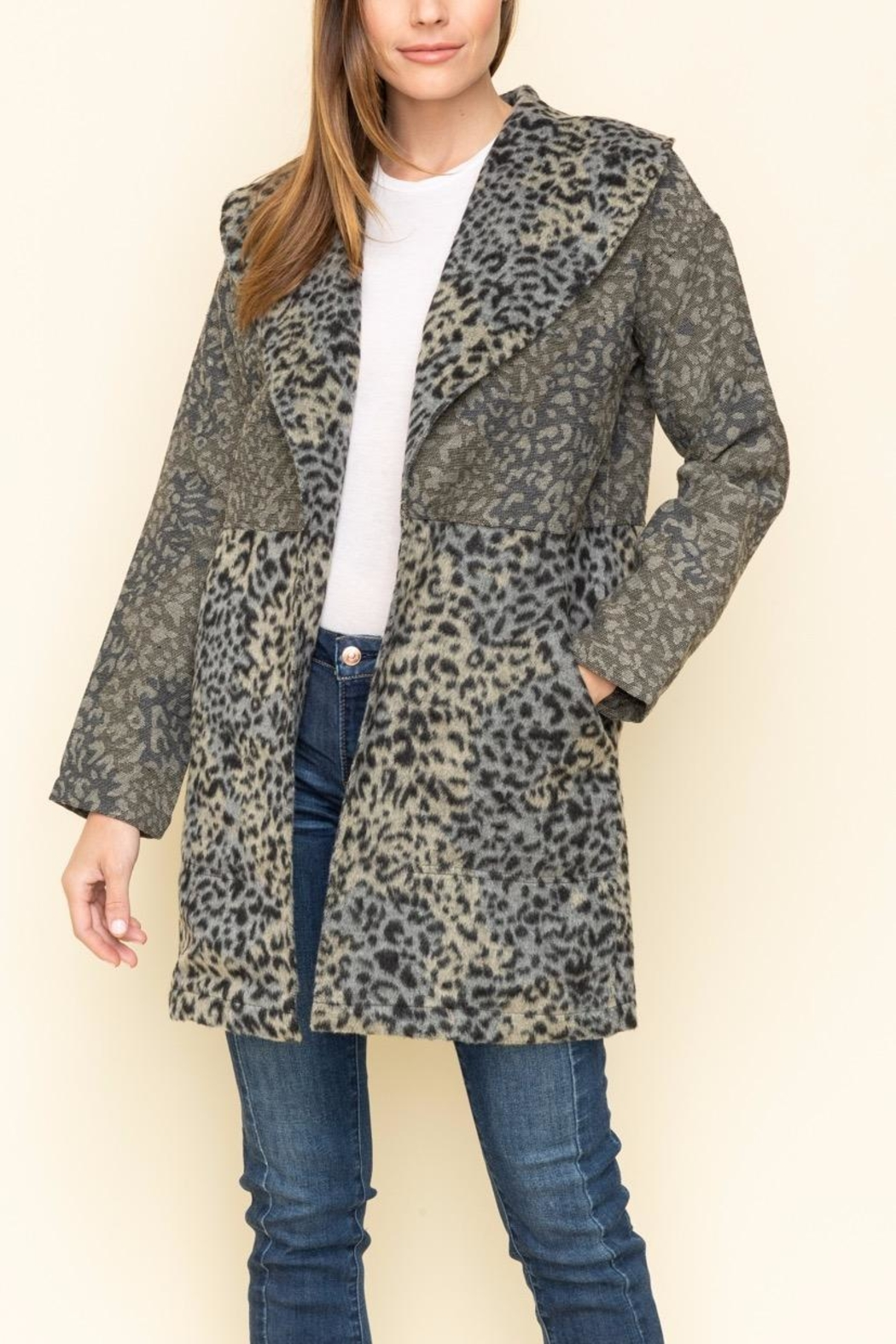 Mystree Jacqrd Half Coat - Main Image