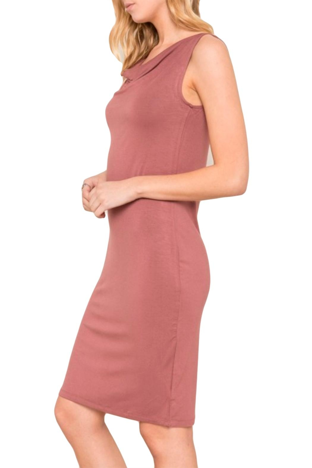 Mystree Jersey Cowl Dress - Front Full Image