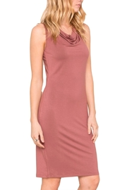 Mystree Jersey Cowl Dress - Front cropped