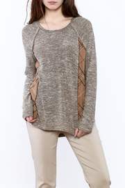Mystree Grey Knit Top - Product Mini Image