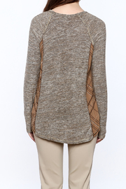 Mystree Grey Knit Top - Back cropped