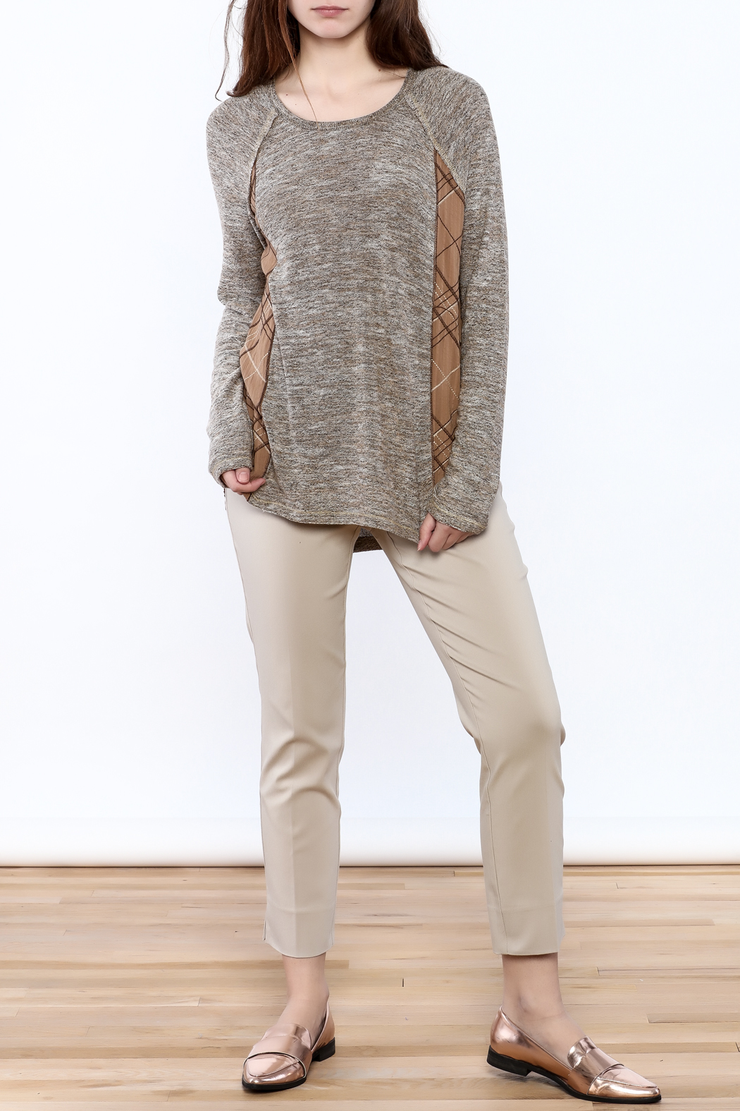 Mystree Grey Knit Top - Front Full Image