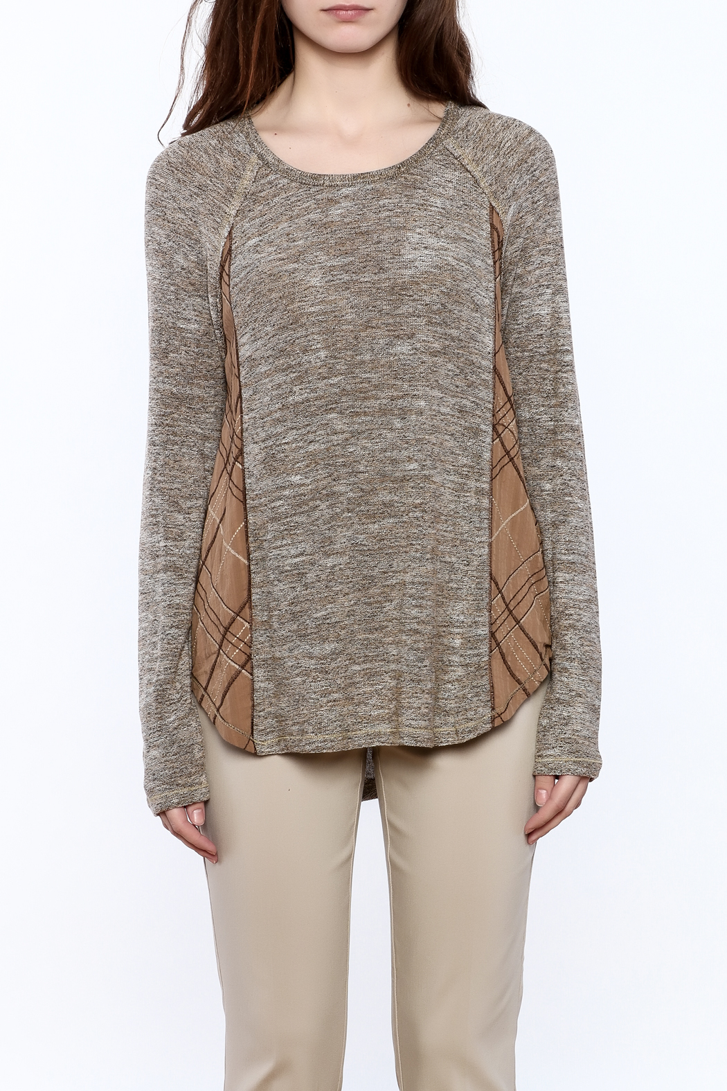 Mystree Grey Knit Top - Side Cropped Image