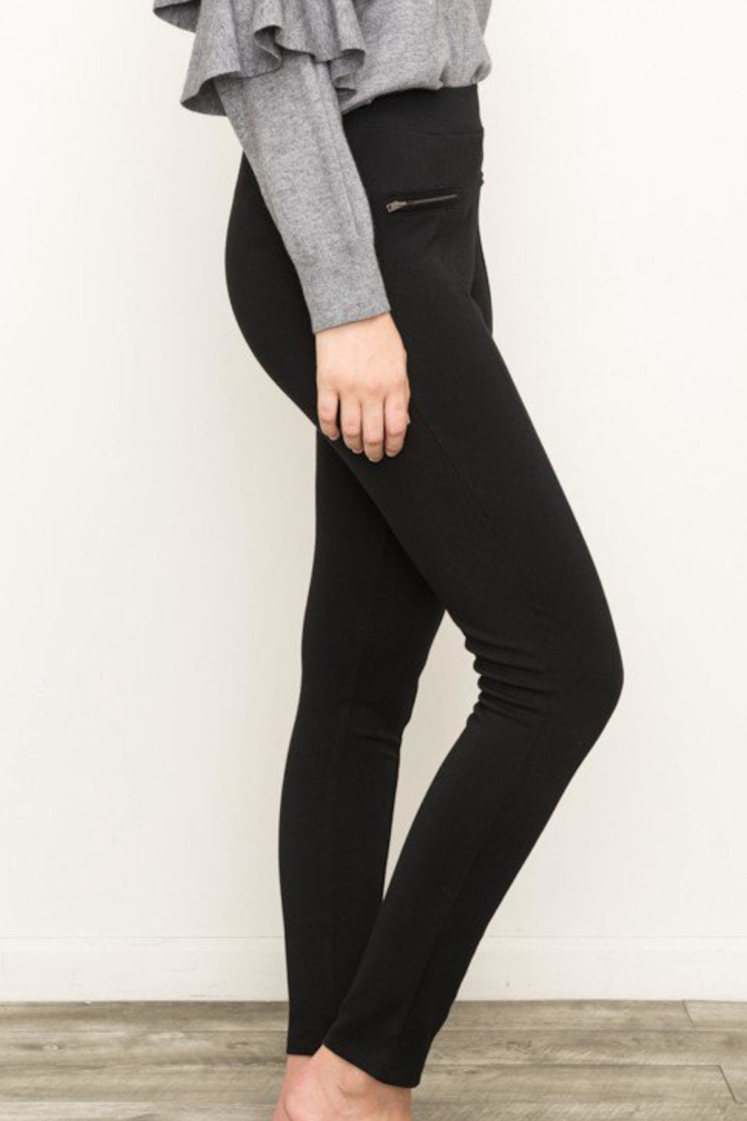 Mystree Knit Zip Pants - Front Full Image