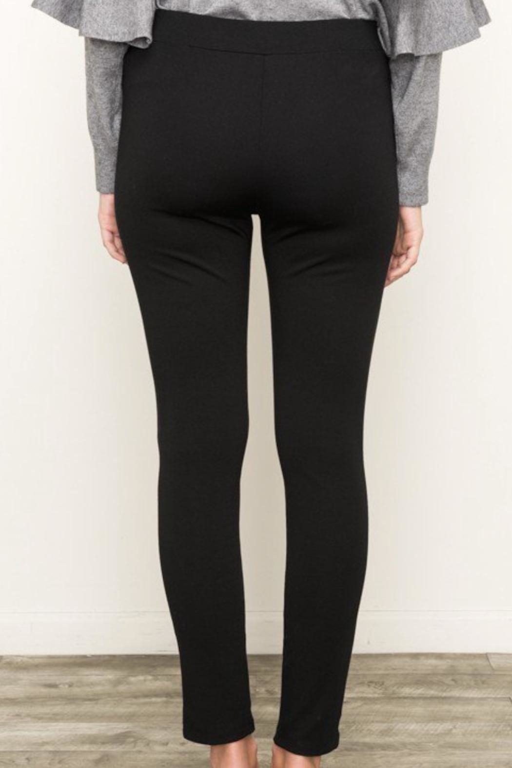 Mystree Knit Zip Pants - Back Cropped Image