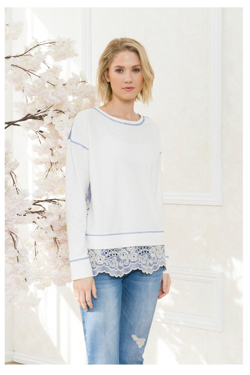 Mystree Lace Back/bottom Top - Front Full Image