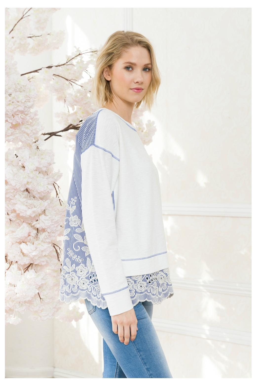 Mystree Lace Back/bottom Top - Side Cropped Image