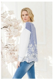 Mystree Lace Back/bottom Top - Back cropped