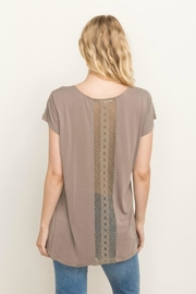 Mystree Lace Backed Tunic - Front full body