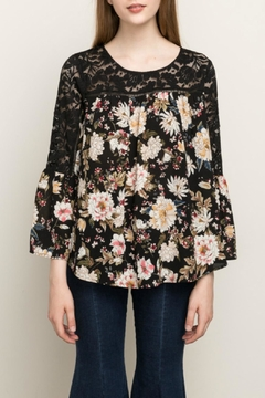 Mystree Lace Contrast Blouse - Product List Image