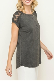 Mystree Lace Contrast Top - Product Mini Image