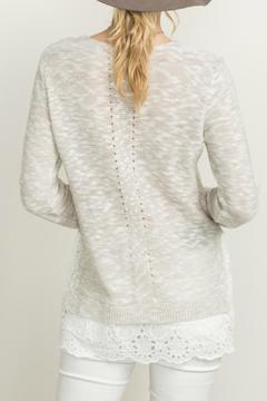 Shoptiques Product: Lace Frill Sweater