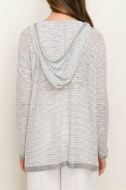 Mystree Lace-Up Hooded Pullover - Front full body